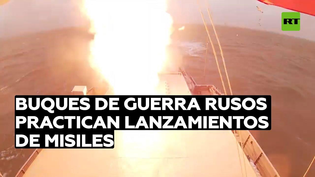 Corbetas de la flotilla del Caspio practican lanzamientos de misiles Kalibr-NK