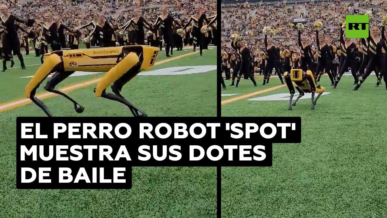 Robot de Boston Dynamics baila con animadoras durante un partido de fútbol americano
