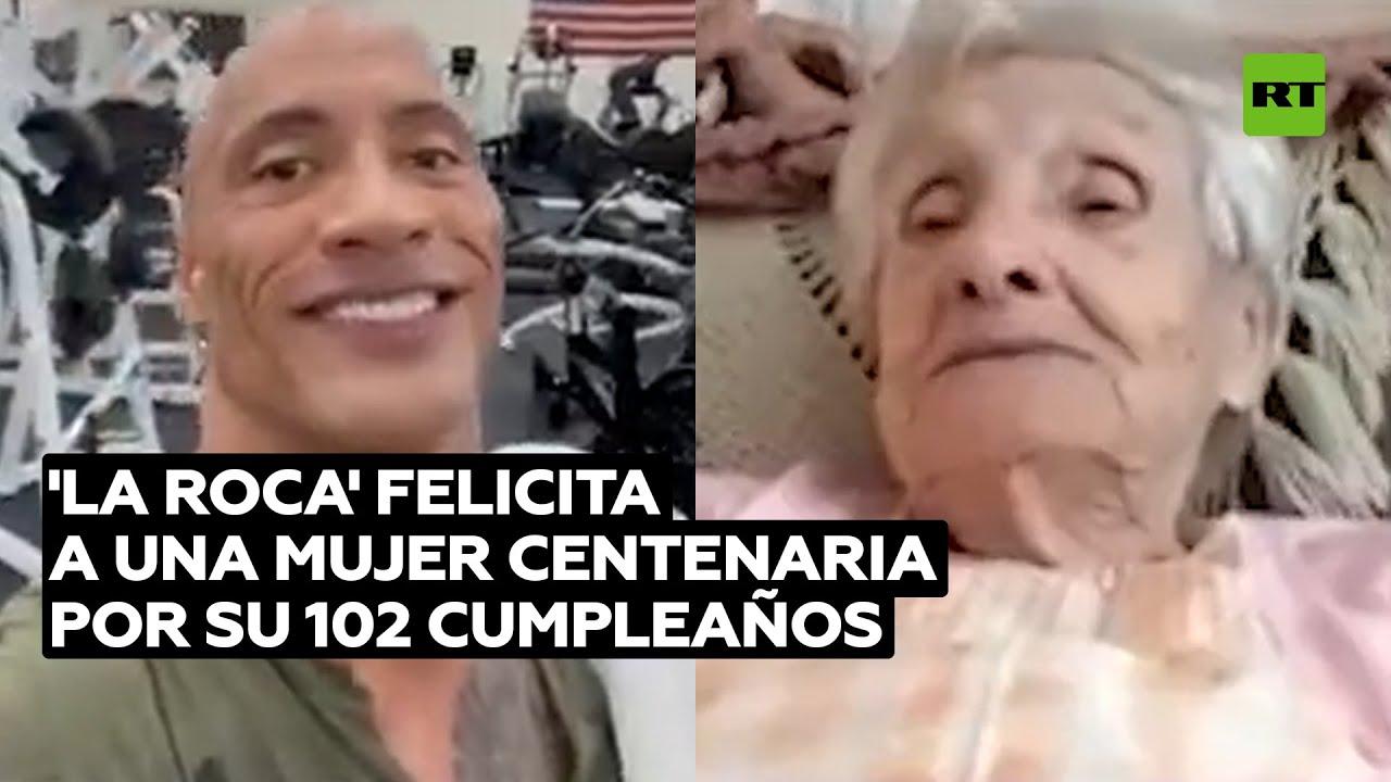 'La Roca' felicita a una anciana por su 102 cumpleaños @RT Play en Español