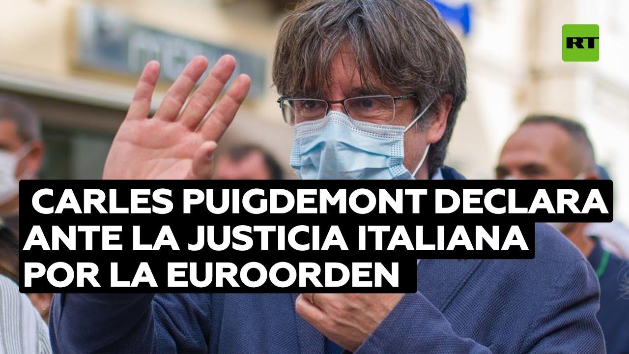 Carles Puigdemont declara ante la Justicia italiana sobre la euroorden de entrega a España