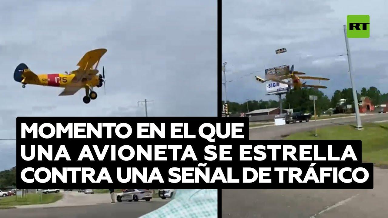Una avioneta se estrella contra una señal de tráfico tras una exhibición aérea en Texas