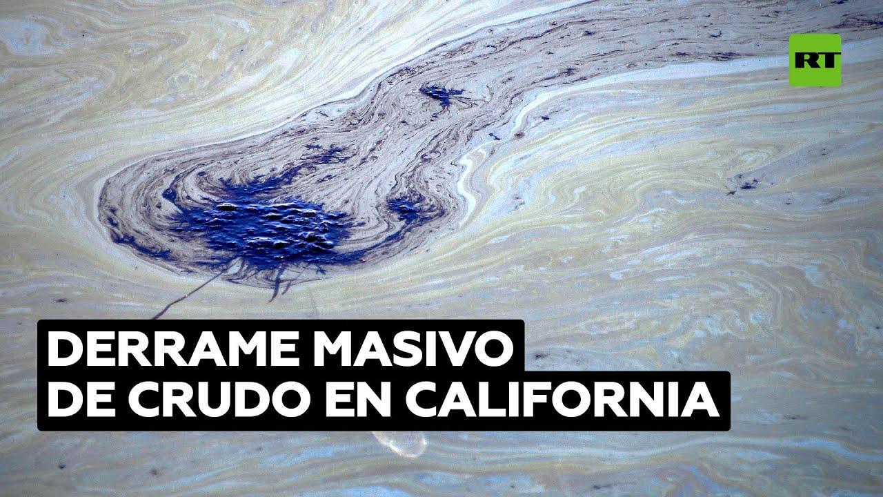 Captan el alcance del derrame de crudo en California calificado como potencial desastre ambiental