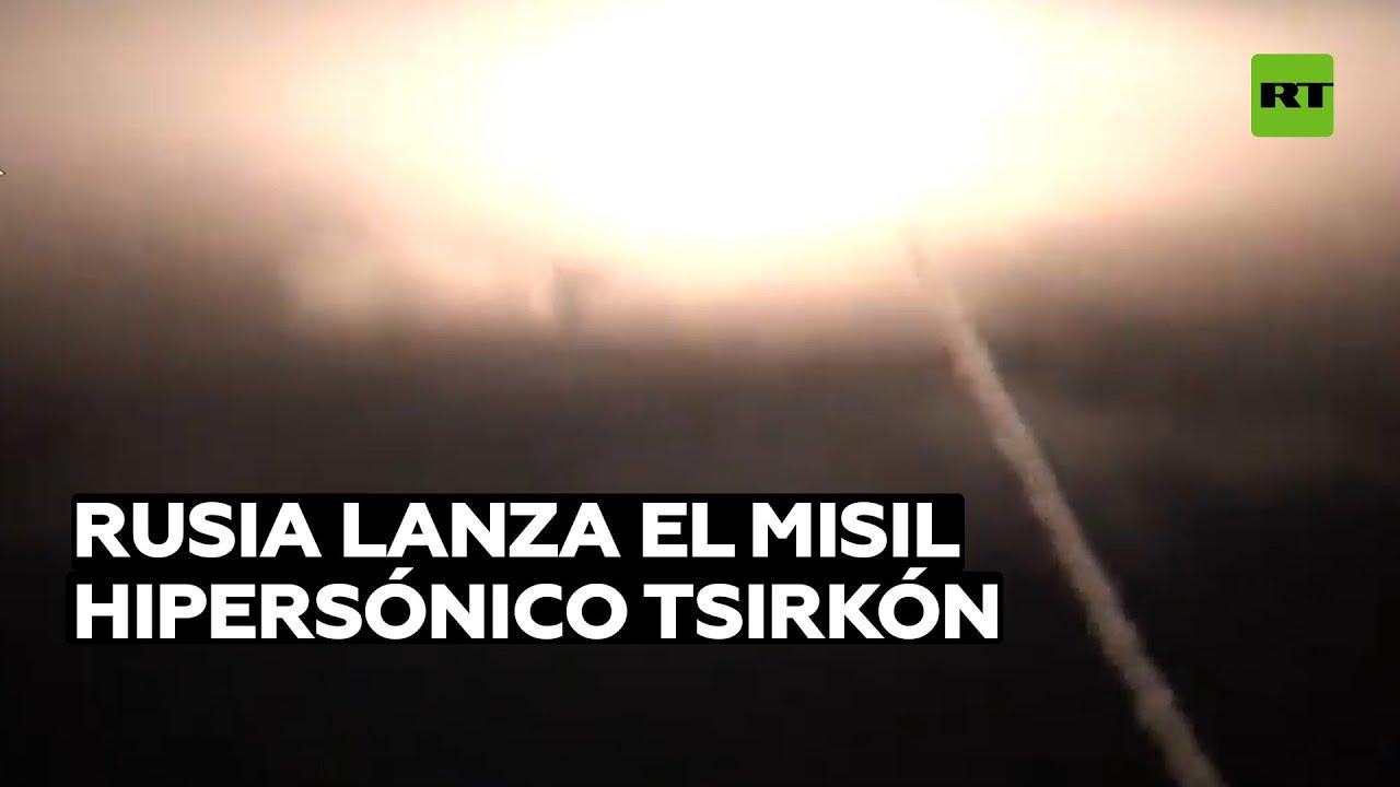 Rusia lanza el misil hipersónico Tsirkón desde un submarino nuclear
