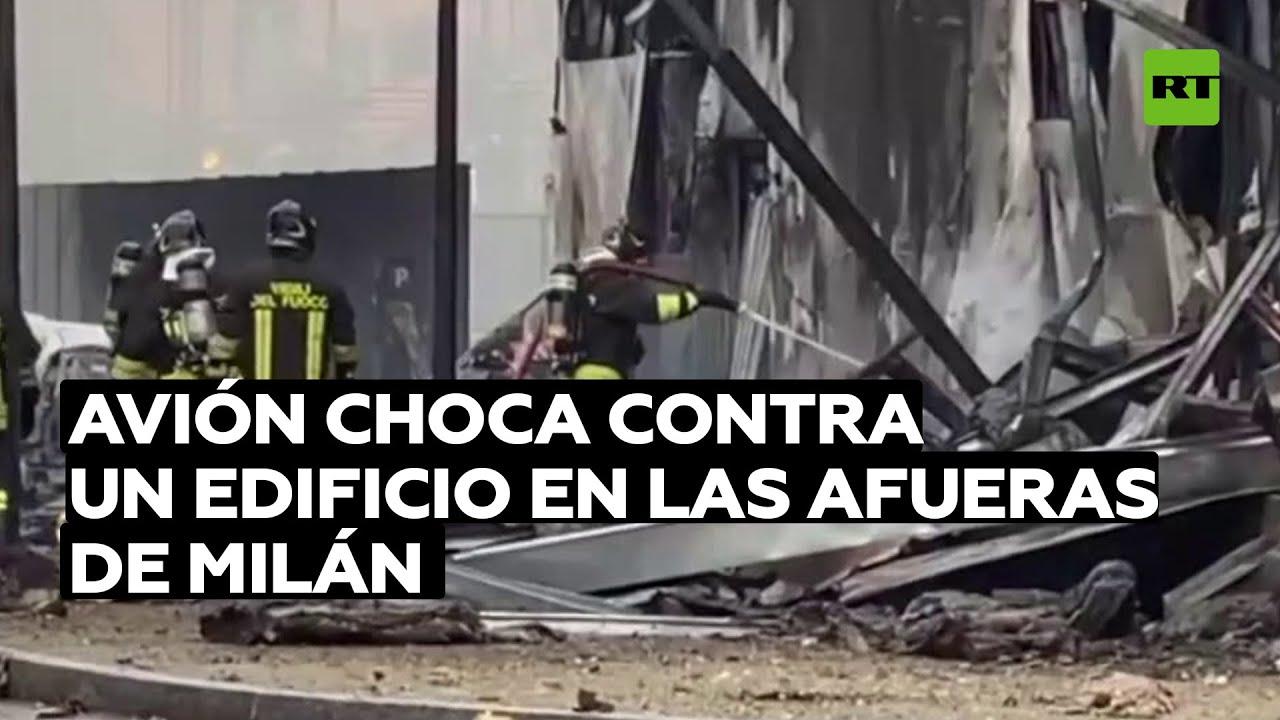 Varios muertos tras el choque de un avión contra un edificio en las afueras de Milán