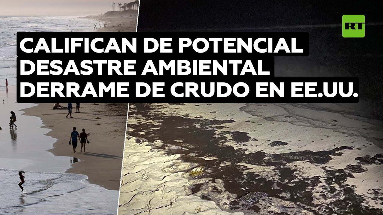 Un derrame de crudo masivo cerca de las costas de California provoca cierres de las playas