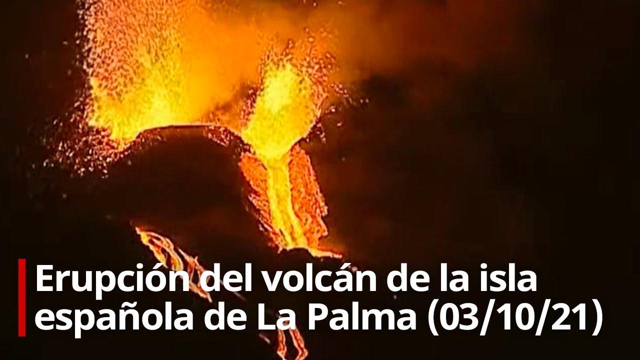 🔴 Erupción del volcán de la isla española de La Palma (03/10/21)