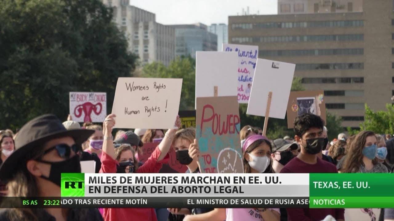 Miles de mujeres marchan en Estados Unidos en defensa del aborto legal