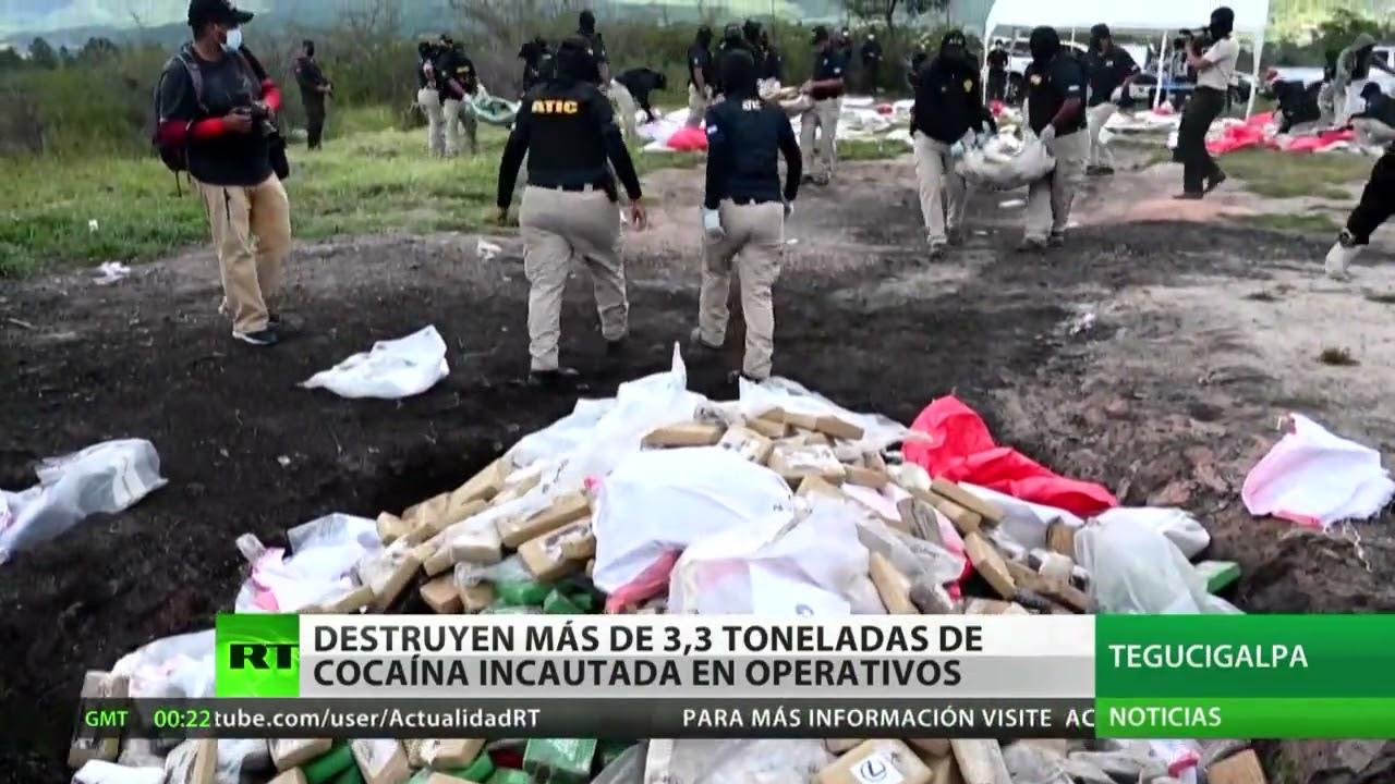 Honduras: Destruyen más de 3,3 toneladas de cocaína incautada en operativos