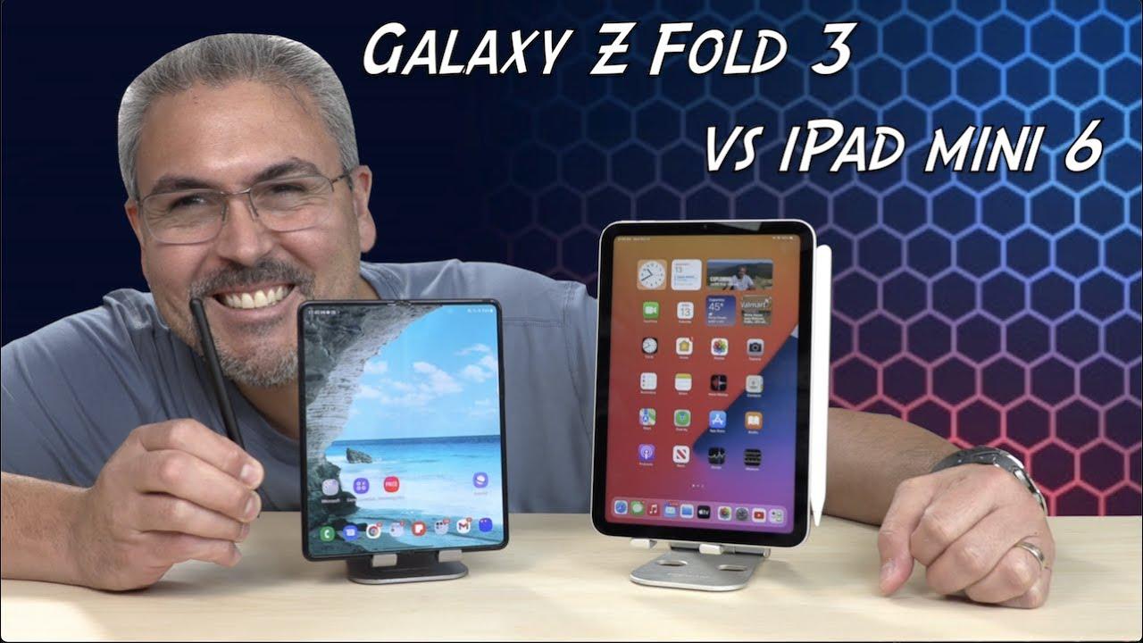 Samsung Galaxy Z Fold 3 vs iPad Mini sexta generación