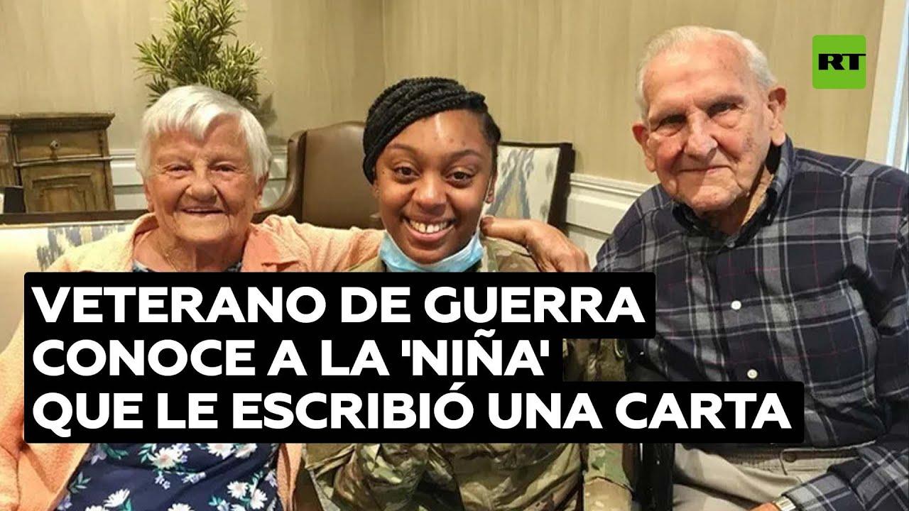 Veterano de la II Guerra Mundial conoce a la 'niña' que le dedicó una carta @RT Play en Español