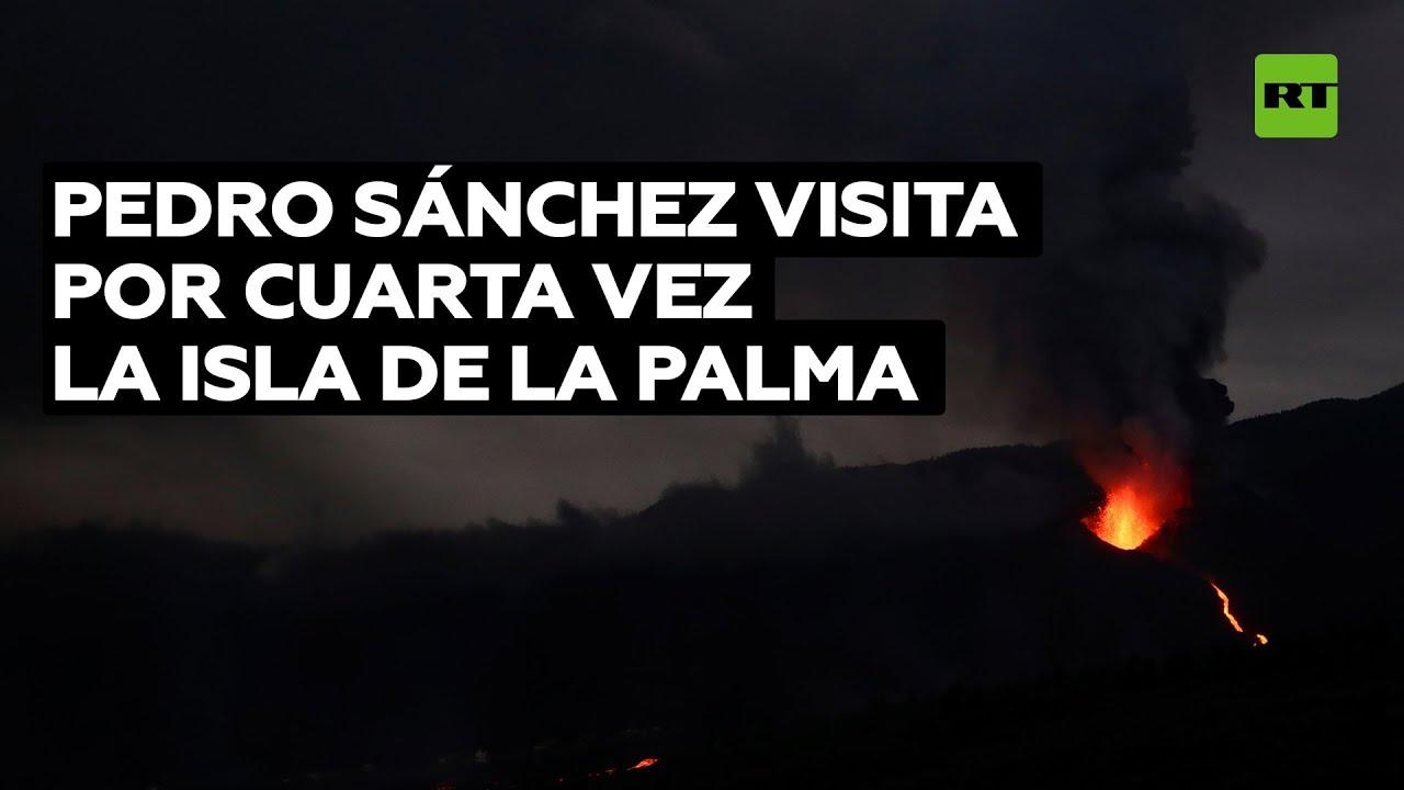 Sánchez visita la isla de La Palma, donde la lava ya afecta a más de 650 hectáreas