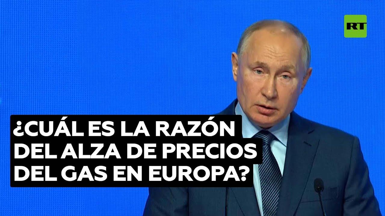 Putin: Los precios del gas en Europa son consecuencia del déficit de energía eléctrica