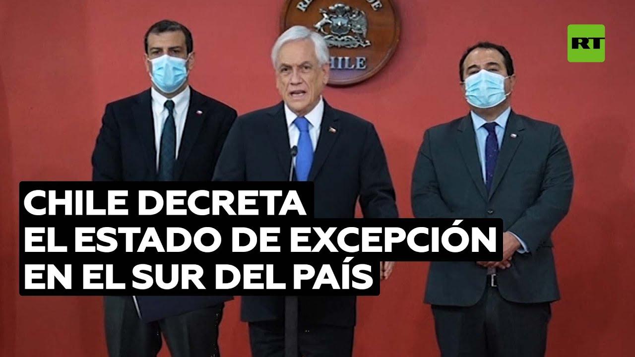 Sebastián Piñera decreta el estado de excepción en la Macrozona Sur de Chile