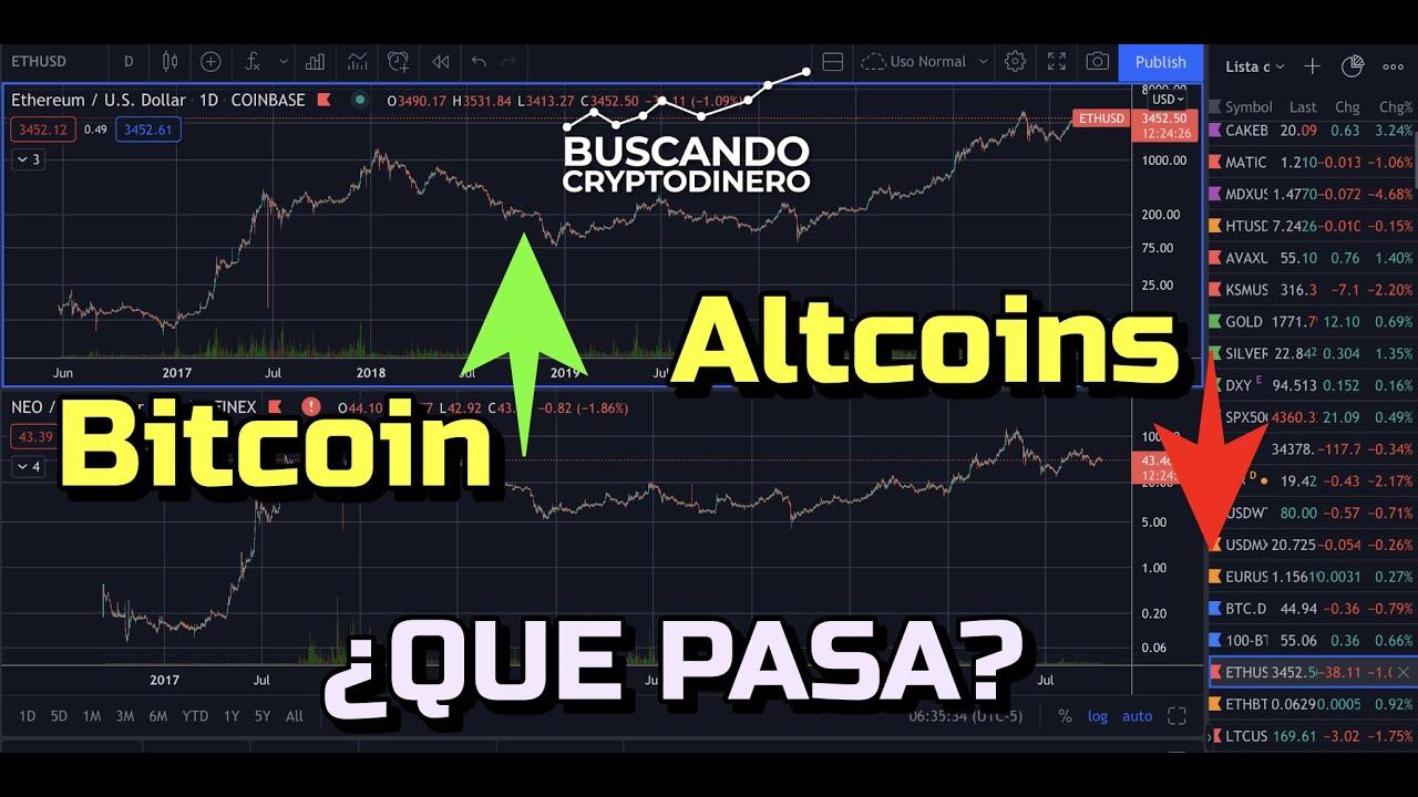 Bitcoin SUBE y Altcoins BAJAN ¿Que pasa? + Rifa de Litecoin y Noticias !!!