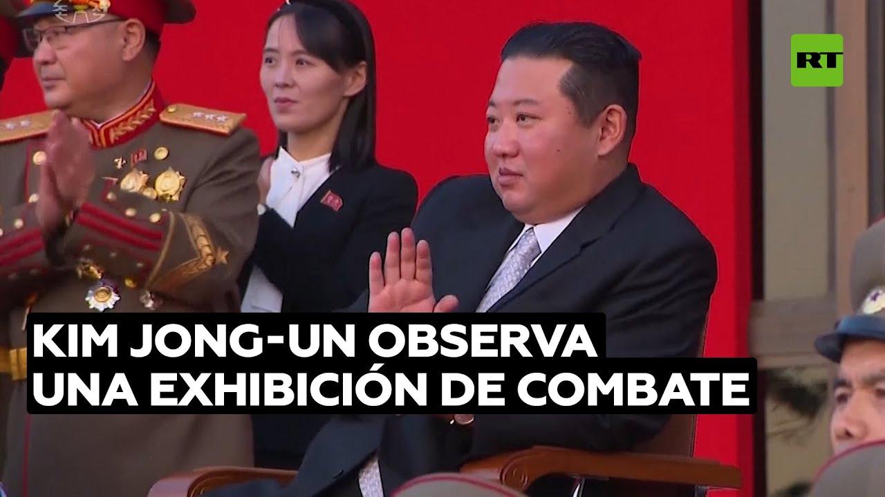 Kim Jong-un observa una exhibición de combate de militares norcoreanos