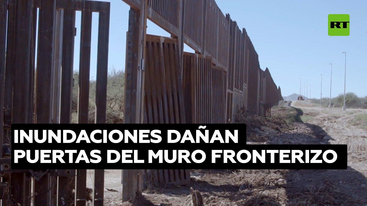 Inundaciones destruyen parte del muro fronterizo en Arizona