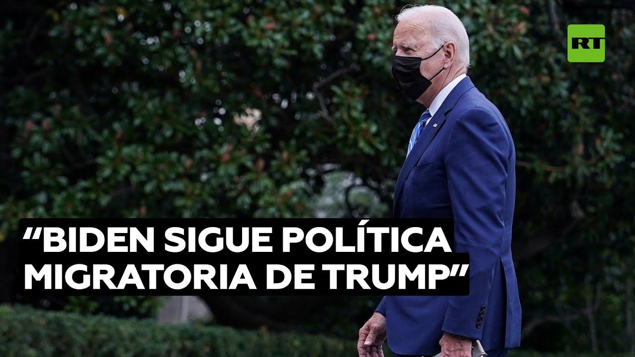 """Biden, pese a frenar el muro con México, sigue política migratoria de Trump"""