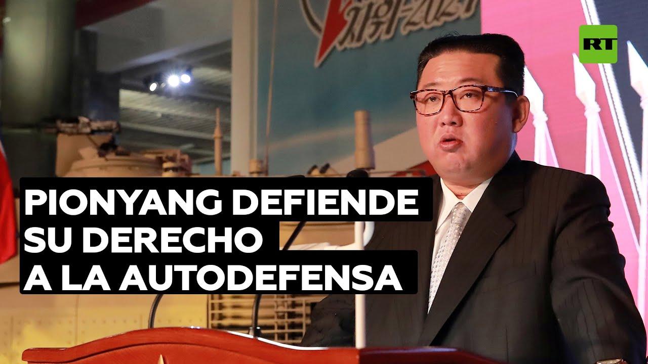 Kim Jong-un lanza un mensaje antibelicista mientras posa ante su mayor misil balístico