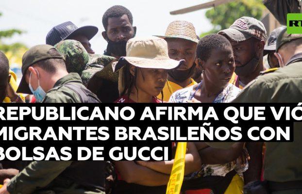 Senador republicano afirma que vió migrantes brasileños con bolsas de Gucci