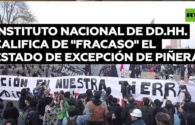 Instituto Nacional de DD.HH. califica el decreto de Piñera de estado de excepción como fracaso