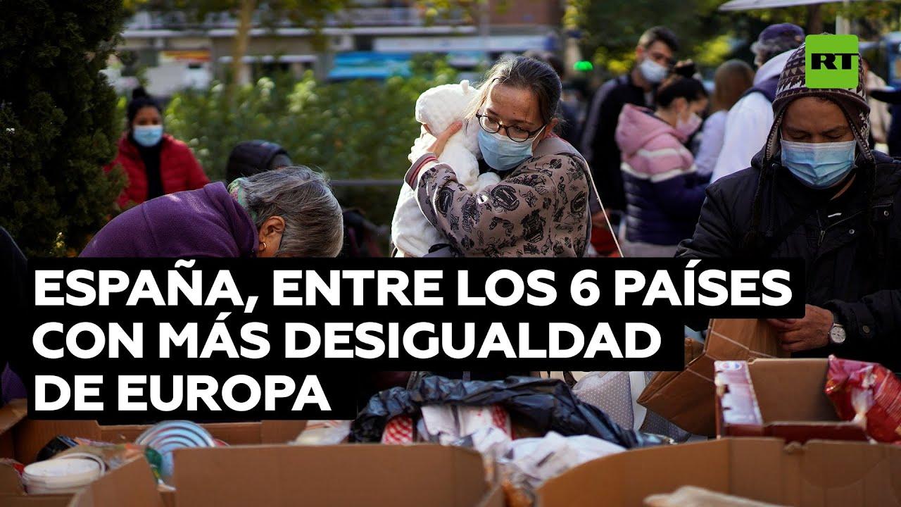 España, entre los 6 países con más desigualdad de Europa