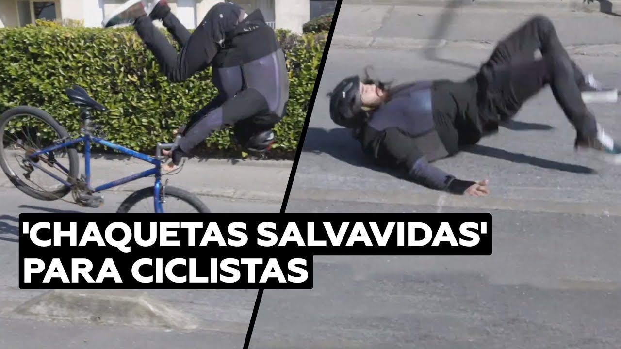 Chaqueta con airbag para proteger a ciclistas urbanos