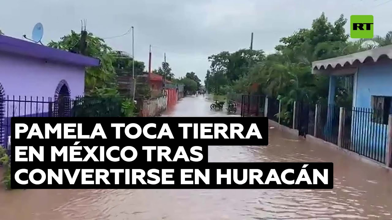 Pamela toca tierra en México tras convertirse en huracán