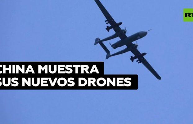 China exhibe sus nuevos drones inteligentes en la feria Airshow China 2021