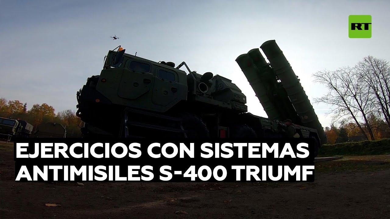Dotaciones de sistemas antimisiles rusos S-400 Triumf se entrenan en abatir blancos hipersónicos