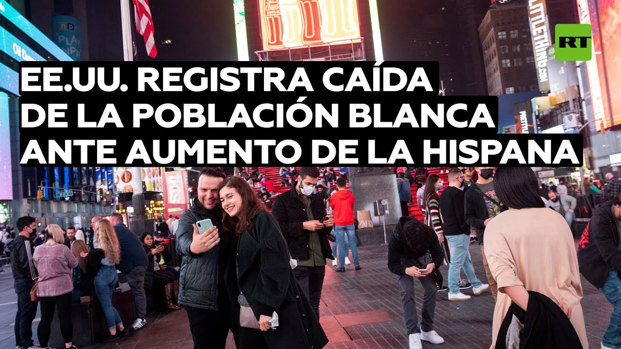 EE.UU. registra caída de la población blanca ante aumento de la hispana