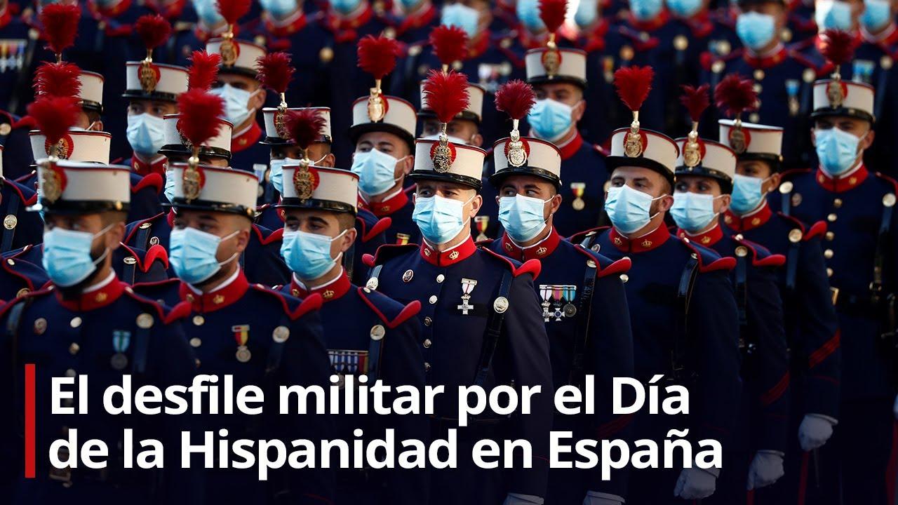 El desfile militar por el Día de la Hispanidad en España