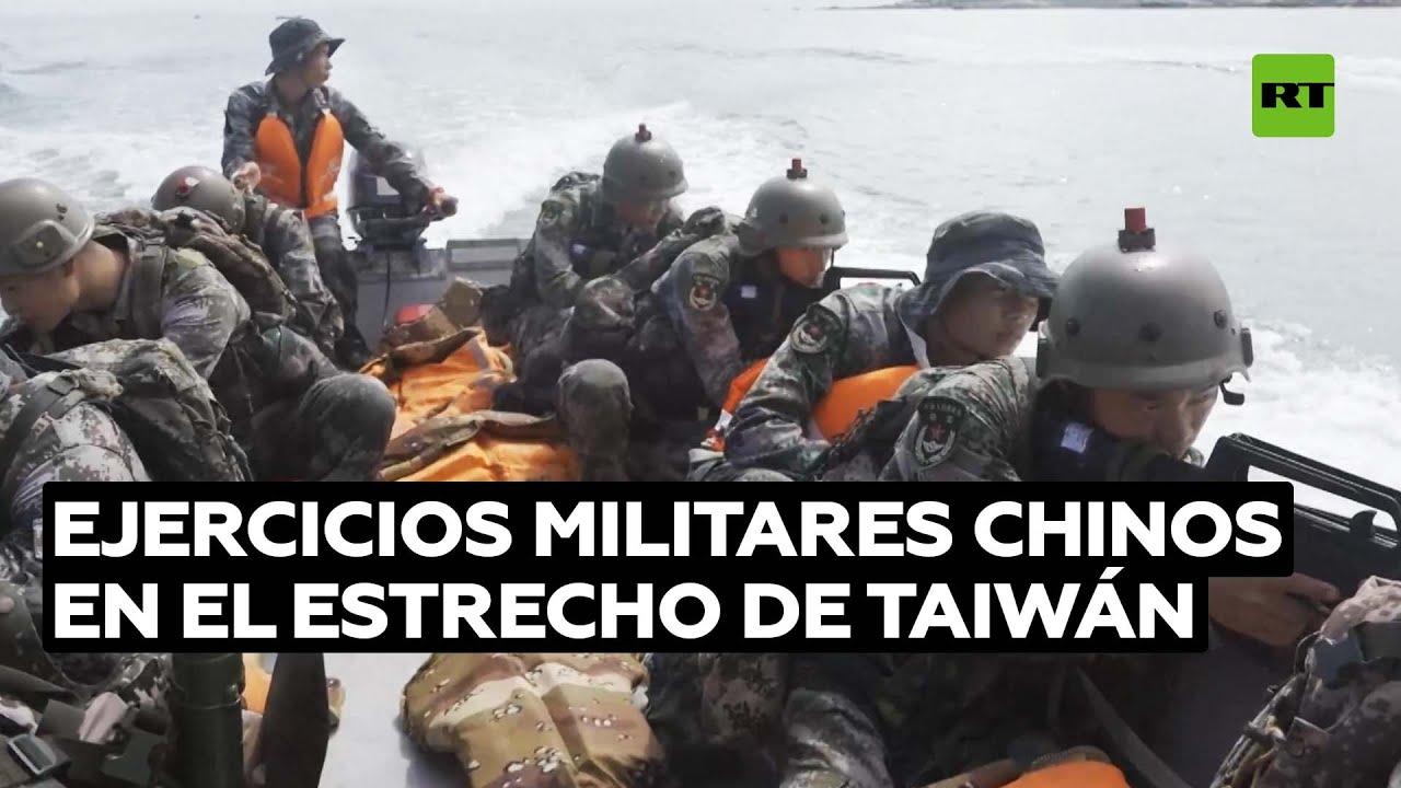 El Ejército chino realiza ejercicios en medio de la creciente tensión con Taiwán