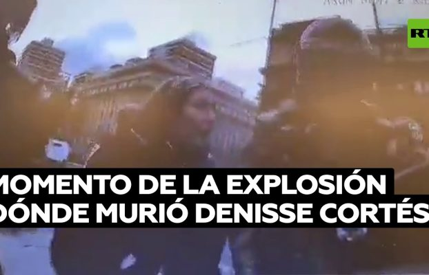 Momento del impacto que terminó con la vida de Denisse Cortés