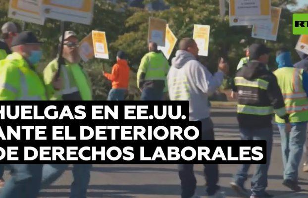 Decenas de miles de trabajadores se declaran en huelga en EE.UU.