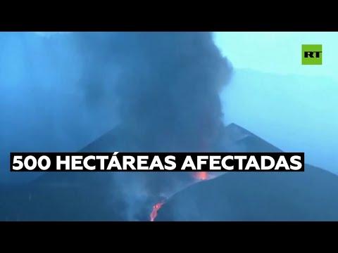 Erupción volcánica en las Islas Canarias se extiende tres semanas y afecta a unas 500 hectáreas