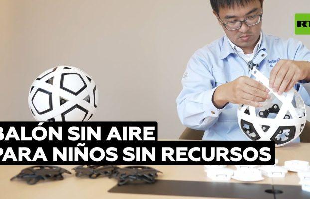 Japón inventa un balón para niños sin recursos que no necesita aire @RT Play en Español