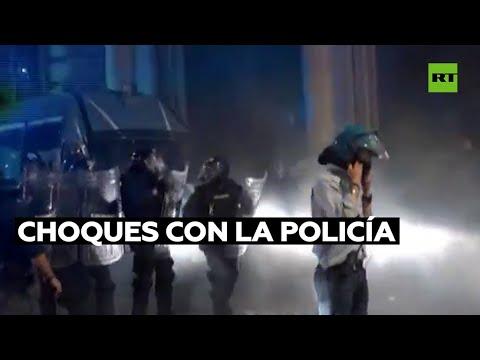 Protestas en Italia y en Francia durante las protestas contra las restricciones anticovid