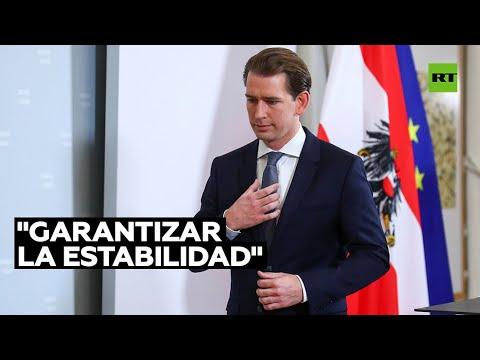 El canciller de Austria, Sebastian Kurz, anuncia su dimisión