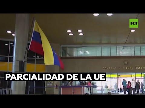 El Consejo Electoral de Venezuela denuncia la parcialidad de la UE ante comicios