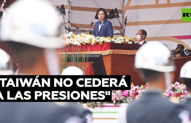 Tsai comenta las presiones de China durante la celebración del Día Nacional de Taiwán