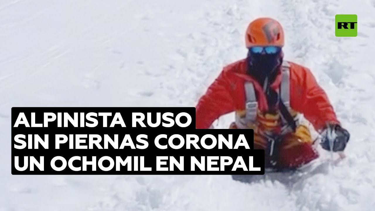 Alpinista ruso sin piernas escala un pico de 8.000 metros en Nepal