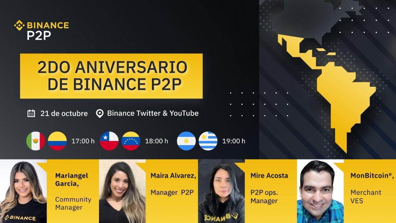 ¡Celebra el aniversario Binance P2P! Únete y participa por premios