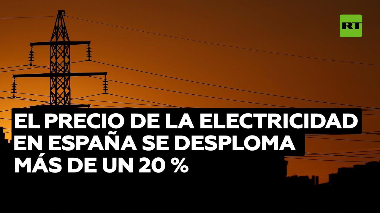 El precio de la electricidad en España se desploma más de un 20 %