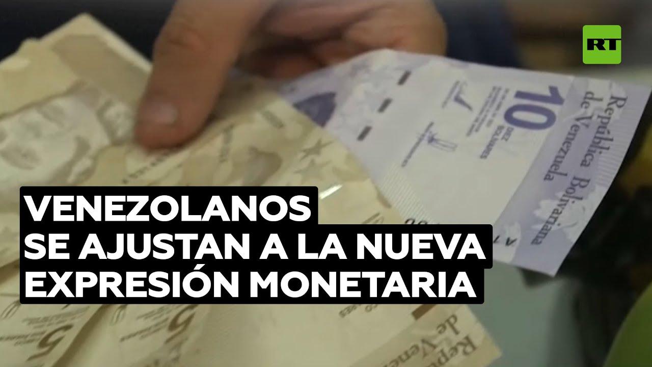 """Venezolanos afirman que la nueva expresión monetaria es """"excelente"""" y fácil de usar"""