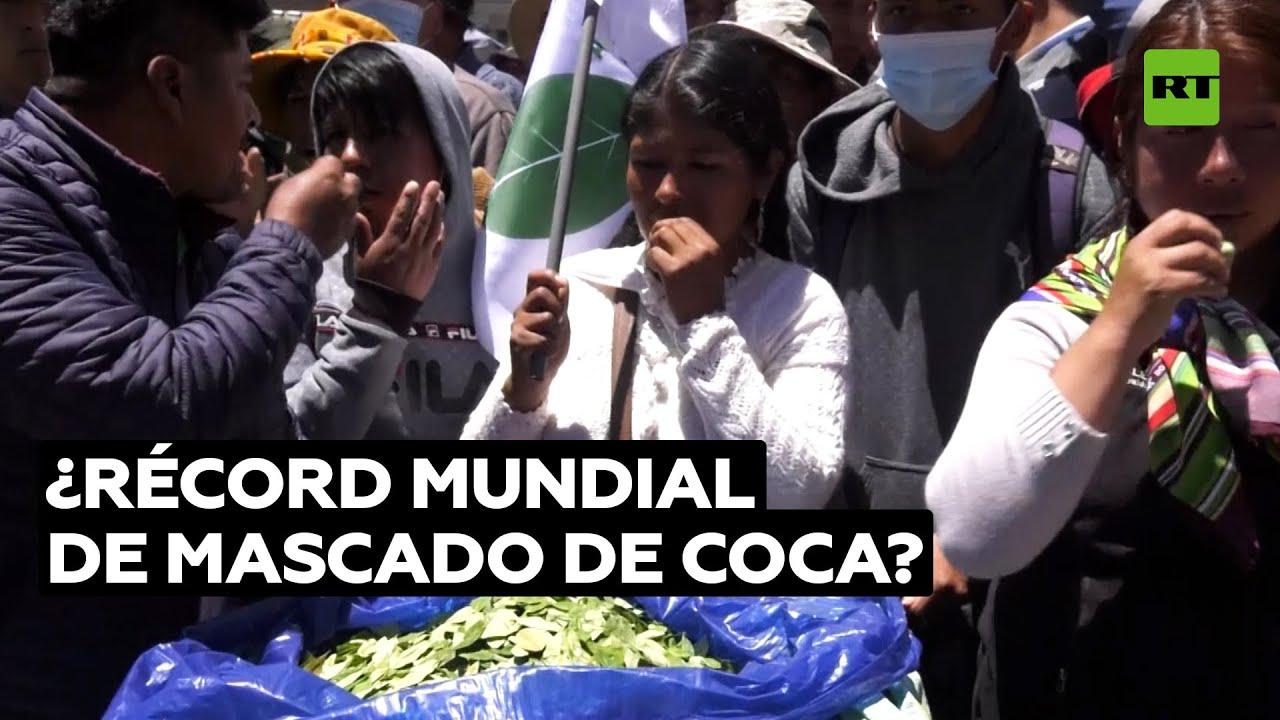 Cientos de cocaleros celebran un ritual de mascado de hojas de coca en La Paz @RT Play en Español