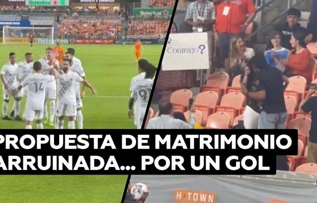 Un delantero del LA Galaxy marca un gol y arruina una pedida de mano @RT Play en Español