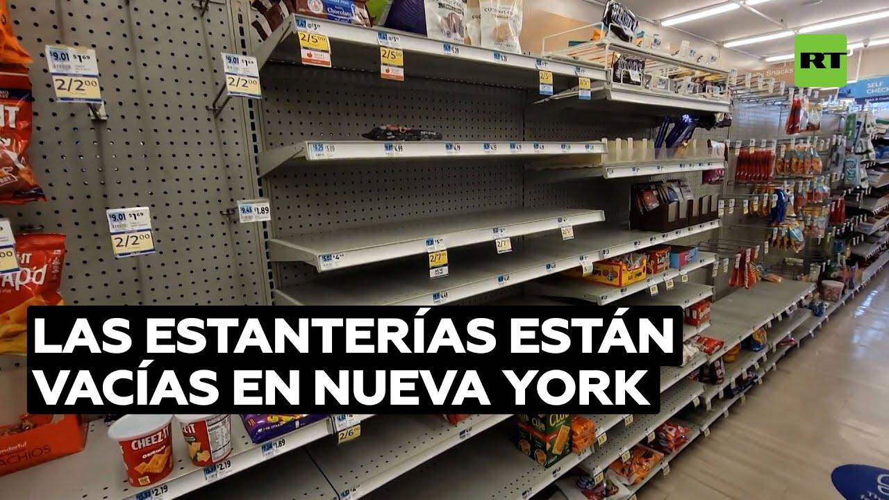Estanterías se vacían en Nueva York mientras se acumulan los retrasos en las cadenas de suministro