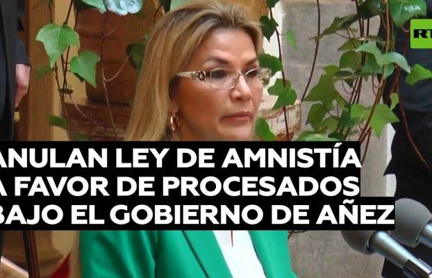 Anulan la ley de amnistía a favor de los procesados bajo el Gobierno de Jeanine Áñez