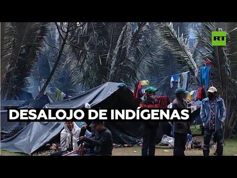 Deciden desalojar de un parque de Bogotá a indígenas que reclaman derechos
