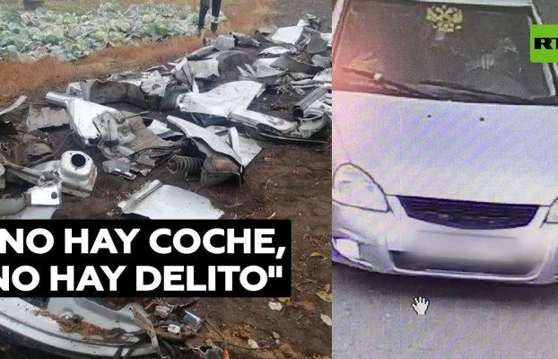 Un conductor entierra su coche para encubrir un delito en Rusia @RT Play en Español
